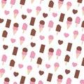 Fancy Valentine Day Seamless Pattern