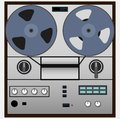 Vintage magnetic audio tape reel-to-reel recorder Royalty Free Stock Photo