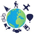 Means of transportation used to travel around the world