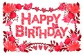 Happy Birthday typography vector design for greeting card, banner, poster. Royalty Free Stock Photo