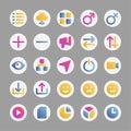 Social Media - 25 icons image. Royalty Free Stock Photo