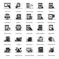 Mobile Technology Solid Icons Pack Royalty Free Stock Photo