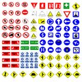 All Collection of warning, mandatory, prohibition and information traffic signs, Vector illustration