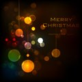 Basic rgb illustration of christmas background with bokeh effect Royalty Free Stock Photos