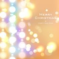 Basic rgb illustration of christmas background with bokeh effect Stock Images