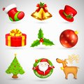 Basic rgb illustration of collection of christmas icon based object Royalty Free Stock Images