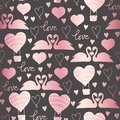 Vector pattern swans in love for Valentines day, wedding, romantic events, and love
