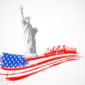 Basic rgbs illustration of statue of liberty with american flag for independence day Royalty Free Stock Photo