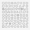 80 basic shapes outline eps 10 Royalty Free Stock Photo