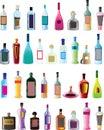 Basic vector alcohol bottles