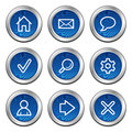 Basic web icons Royalty Free Stock Photo