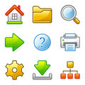 Basic web icons, alfa series Royalty Free Stock Photos