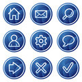 Basic web icons, blue circle buttons series Royalty Free Stock Photo