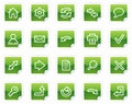 Basic web icons, green sticker series Stock Image