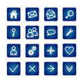 Basic web icons set Stock Images