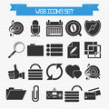 Basic web icons set vector of for your design Royalty Free Stock Photography