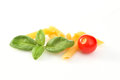 Basil pasta tomato Stock Photography