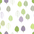 Basil pattern leaves of different colors on a white background Stock Images
