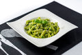 Basil pesto pasta salad. Royalty Free Stock Photo