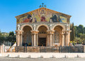 Basilica of the agony also know as church all nations is a richly decorated church located on mount olives near Royalty Free Stock Photos