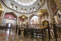 Basilica of the annunciation in nazareth israel view interior Royalty Free Stock Photos