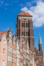 Basilica of the assumption of the blessed virgin mary in gdansk poland roman catholic church built in th century construction Stock Photos