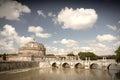 Basilica bridge cityscape night peter river rome s st tevere vatican Στοκ φωτογραφίες με δικαίωμα ελεύθερης χρήσης