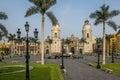 The Basilica Cathedral of Lima at Plaza Mayor - Lima, Peru Royalty Free Stock Photo
