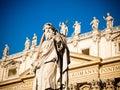 Basilica(church) di San Pietro in Vaticano Royalty Free Stock Photo