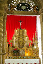 The basilica church holds the mortal remains of st francis goa india august chapel blessed sacrament in bom jesus on august goa Royalty Free Stock Photography