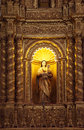 The basilica church holds the mortal remains of st francis goa india august decorated altar dedicated to our lady hope in ancient Stock Photo