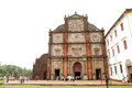 The basilica church holds the mortal remains of st francis xavi goa india august facade ancient bom jesus on august goa Royalty Free Stock Photography