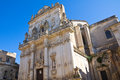 Basilica church of st giovanni battista lecce puglia italy Royalty Free Stock Photo