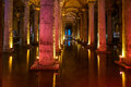 Basilica cistern istanbul the famous subterranean in Royalty Free Stock Image