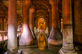 Basilica cistern istanbul the famous subterranean in Royalty Free Stock Photo