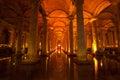 Basilica cistern istanbul the turkish yerebatan sarayı sunken palace or yerebatan sarnıcı sunken is the largest of several Royalty Free Stock Photos
