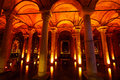 Basilica cistern underground water storage yerebatan sarayi istanbul turkey Stock Photos