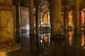 The basilica cistern yerebatan sarnici turkish sarayı – sunken palace or sarnıcı – sunken is largest of Royalty Free Stock Photography