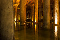 The basilica cistern yerebatan sarnici turkish sarayı – sunken palace or sarnıcı – sunken is largest of Royalty Free Stock Photo