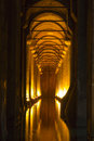 The basilica cistern yerebatan sarnici turkish sarayı – sunken palace or sarnıcı – sunken is largest of Stock Images
