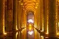 The basilica cistern yerebatan sarnici turkish sarayı – sunken palace or sarnıcı – sunken is largest of Royalty Free Stock Photos