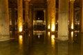 The basilica cistern yerebatan sarnici turkish sarayı – sunken palace or sarnıcı – sunken is largest of Stock Photography