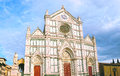 The Basilica di Santa Croce - famous Franciscan church on Florence, Italy Royalty Free Stock Photo