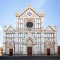 Basilica di santa croce the of the holy cross famous franciscan church on florence italy Royalty Free Stock Photography