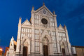 Basilica the di santa croce of the holy cross famous franciscan church on florence italy Stock Photo