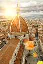 Basilica di Santa Maria del Fiore (Duomo) in Florence Royalty Free Stock Photo