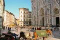 The Basilica di Santa Maria del Fiore, in Florence Royalty Free Stock Photos