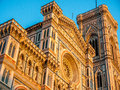 Basilica di santa maria del fiore in florence italy Royalty Free Stock Photos