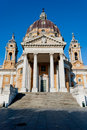 Basilica di Superga frontal view, Turin Stock Photo