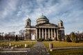 Basilica in Esztergom. Hungary. Toned